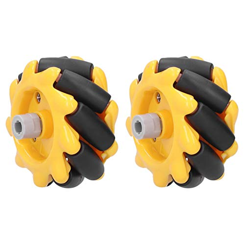 Mecanum Wheel,Robot Wheel,Omnidirectional Wheel 48Mm,Smart Robot Car Chassis Kit,Omni‑Directional DIY Toy Components,for Arduino DIY Project(1 Paar)