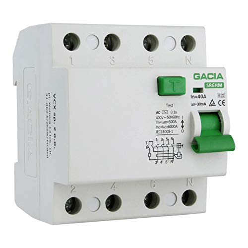 Fi-Schalter 40A 30mA 4p 6kA TypAC FI-Schutzschalter Gacia 6026