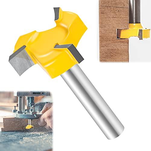 T-formad skaftskärare 8 mm skaft rengöringsskärare 3 kanter T-spår fräs skaft träfräs för router 8 mm skaftpanel rakt skärverktyg för handarbete träbearbetning