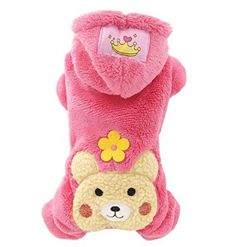 MDKAZ Varios Ropa de Invierno de Terciopelo para Perros pequeños Mono para...
