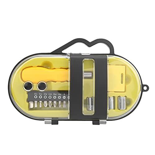 Fafeicy Kit de herramientas de hardware de 16 piezas, destornillador, mango de calabaza, varilla de conexión, para necesidades básicas de mantenimiento de familias, propiedades y técnicos