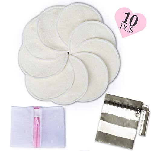 母乳パッド授乳パッド10枚入母乳パット洗濯可能おっぱいパッドさわやかパッドふんわりさらさらの肌ざわり授乳ブラジャー用乳首のデリケートなママやはじめてのママにMomcozy(モンコジー)12CM