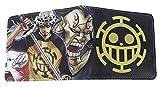 WANHONGYUE One Piece Luffy Anime Cartera Billetera de Cuero para Hombre Tarjetas de Crédito Wallet Monedero 1006/3