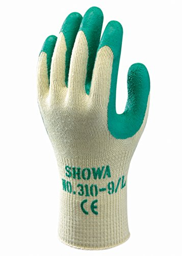 SHOWA 310, Enduction de Latex, Grip polyvalent, Jaune/vert, 7/S