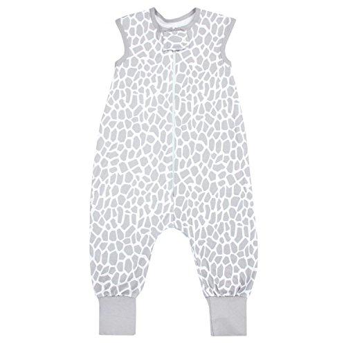 TupTam Unisex Babyschlafsack mit Beinen Unwattiert, Farbe: Giraffe Grau, Größe: 104-110