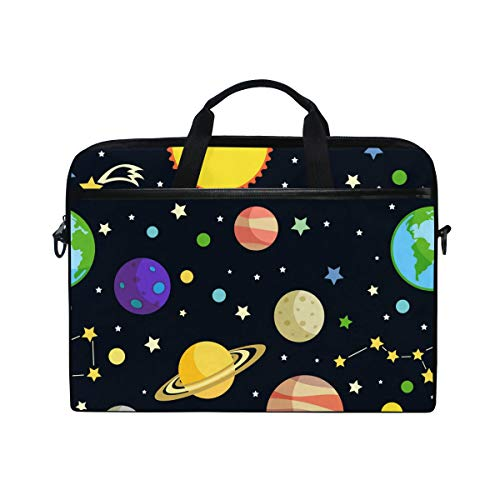 Laptop Case, Space Pattern Computer Sleeve Protective Bag 3 Layer with Durable Zipper for Lenovo Hp MacBook Pro Neoprene Notebook 14 15 15.4 inch