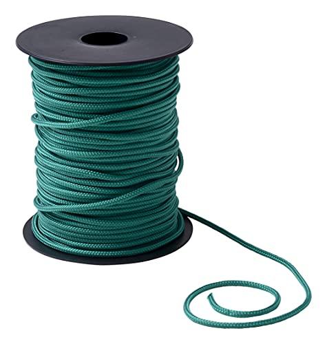IPEA Trenza para Veneciana de Color Verde Medio de Nailon – 50 Metros – Fabricado en Italia – Cuerda para Cortinas – Persiana – Accesorios – Grosor 3 mm