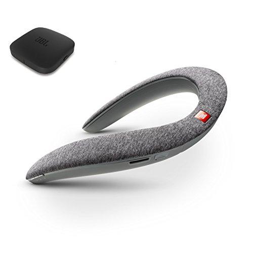JBL SoundGear BTA ウェアラブルネックスピーカー ワイヤレスオーディオトランスミッター付き Bluetooth/apt-X対応/31mm径スピーカー4基搭載 グレー JBLSOUNDGEARBAGRY【国内正規品/メーカー1年保証付き】