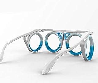 Pusaman レンズなしのアンチモーション酔い船酔いの航空機ラウンドメガネ折りたためるポータブル成人した子供の液体眼鏡 (Lenses Color : White)