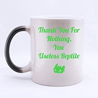Top Thank you for nothing, you useless reptile Morphing Coffee Mug or Tea Cup,Ceramic Material Mugs - 11oz