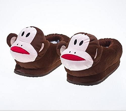 Pantuflas Mujer Invierno Casa Baratas,Zapatillas De Halloween, Zapatillas De Suela Gruesa con Suela Alta De Animales para NiñOs, Zapatillas De Felpa De AlgodóN Antideslizantes E Impermeables, Zapatil