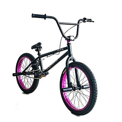 GASLIKE 20 Pouces Professional BMX Vélo, Stunt Action BMX Vélo, adapté au Niveau débutant aux Coureurs avancés Vélos de Rue BMX 25 * 9T,B