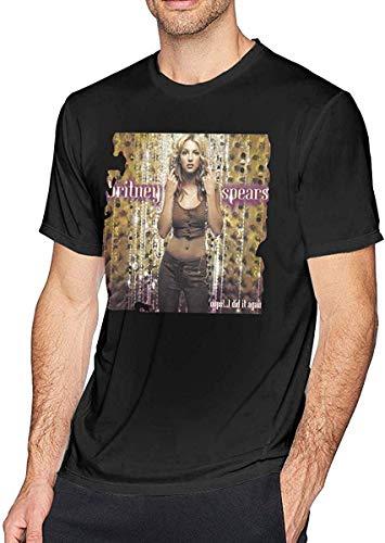 Mens Cool Britney Spears Oops! I Did It Again Tees Black