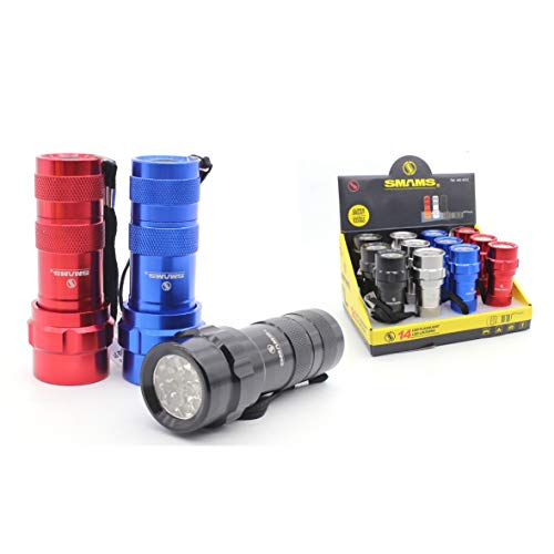 Linterna 14 LED Alta Potencia Linterna de Mano Linternas Antorcha 800 LM Flashlight LED para Ciclismo Camping Montañismo incluida 3 AAA Pilas