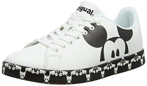 Desigual Damen Shoes (Cosmic_Mickey) Sneaker, Weiß (Blanco 1000), 37 EU