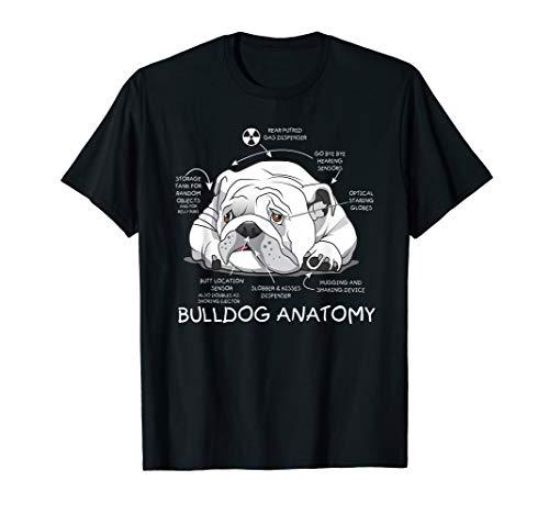 Funny Cute English Bulldog Anatomy Dog Biology Gift T-Shirt