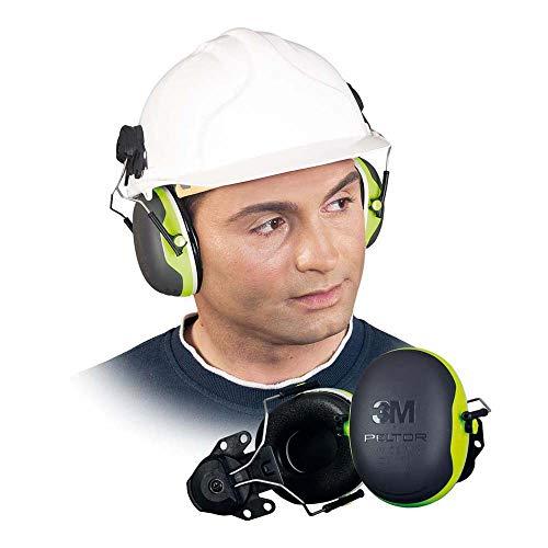 3M Peltor X4 Kapselgehörschutz X4P3E, Helmbefestigung - SNR 32 dB, grün-schwarz