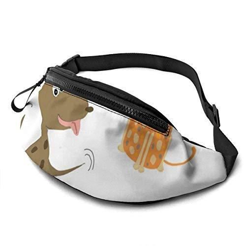 Harla Marsupio Casual Unisex Cani e Gatti Gioca a Marsupio Money Bum Bag con Cintura Regolabile per Corsa Sportiva Arrampicata Viaggi