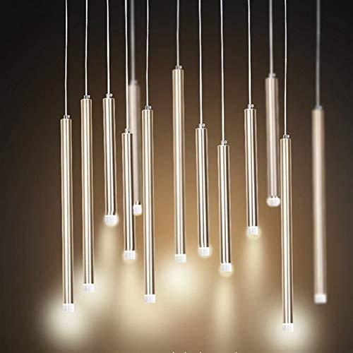 LIUYU Suspensión de la lámpara LED de luz LED Luces Pendientes Cocina LED de Noche Que cuelga la lámpara de Techo Lámparas for el Dormitorio de la Sala (Body Color : Blanco, Size : Cold)