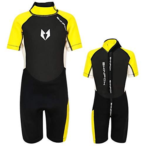 SKINFOX Scout 2-16 J. Kinder Shorty Neoprenanzug Schwimmanzug gelb Farbe gelb, Groesse 14 (155_163)
