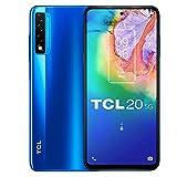 TCL 20 5G - Smartphone de 6.67' FHD+ con NXTVISION (Qualcomm 690 5G, 6GB/128GB Ampliable MicroSD, Dual SIM, Cámaras 48MP+8MP+2MP, Batería 4500mAh, Android 10 actualizable) Azul [Exclusivo Amazon]