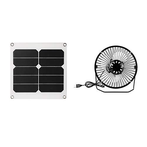 Ventilador solar para ático USB para acampar Ventilador solar para ático 20W Rendimiento estable de alto rendimiento, para acampar al aire libre Ventilación portátil