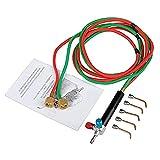 SALAKA Micro-Gasbrenner Mini-Gasbrenner Löt-Set mit 5 Lötspitzen Lötwerkzeug Flexibel abgespritzt