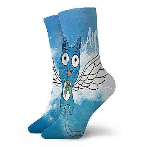 LCYYDECO Fairy Tail Happy Socks Calcetines cortos deportivos...