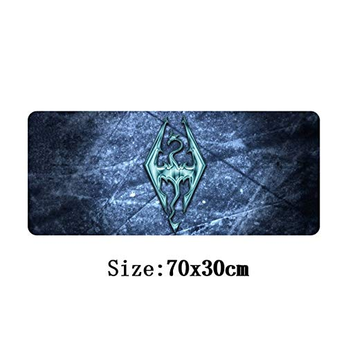 AMZIJ Mauspad 70 x 30 cm Mauspad Host-Computer Stand-Alone Game Mauspad für die Elder Scrolls V Skyrim Großes Gaming Mauspad NO 6