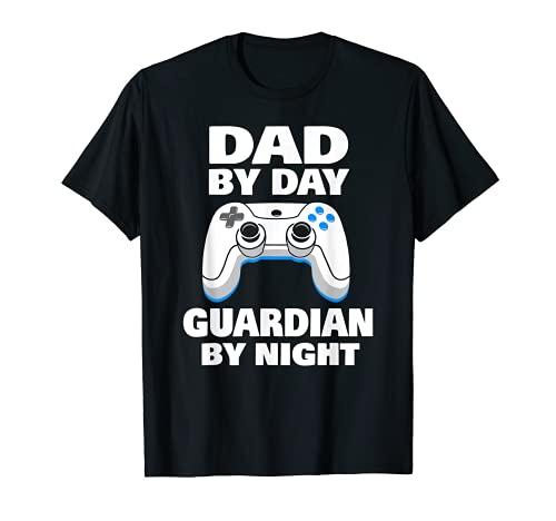 Hombre Papá Por Día Guardián Por Noche Camiseta