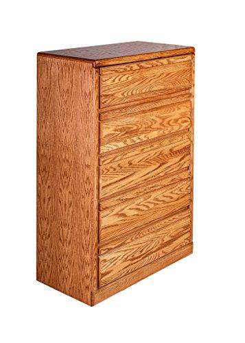Forest Designs Bullnose Oak Five Drawer Chest: 34W x 48H x 18D 34w x 48h x 18d Golden Oak