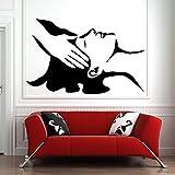 Etiqueta de la pared salón de arte salón de belleza masaje de pies corporal vinilo adhesivo decoración del hogar patrón de calcomanía de pared