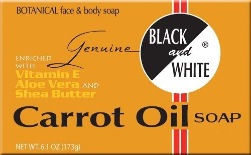Black & White Soap - Carrot Oil 6.1 oz.