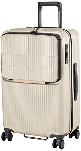 [イノベーター] スーツケース グッドサイズ スリムトップオープン 多機能モデル INV60 保証付 62L 65 cm 4kg バニラ