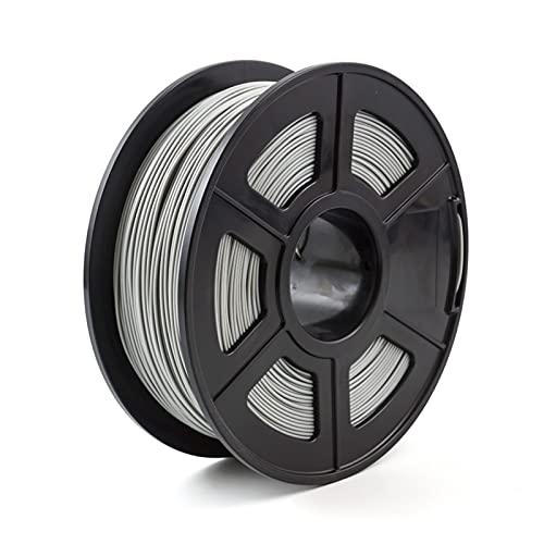 lxxiulirzeu Filamenti per stampanti 3D Filamento della Stampante 3D. PLA 1.7. 5mm 1kg / 2.2lbs 3D Materiale di Materiali di consumo di Materiali di plastica 3D PLA. (Color : Grey)