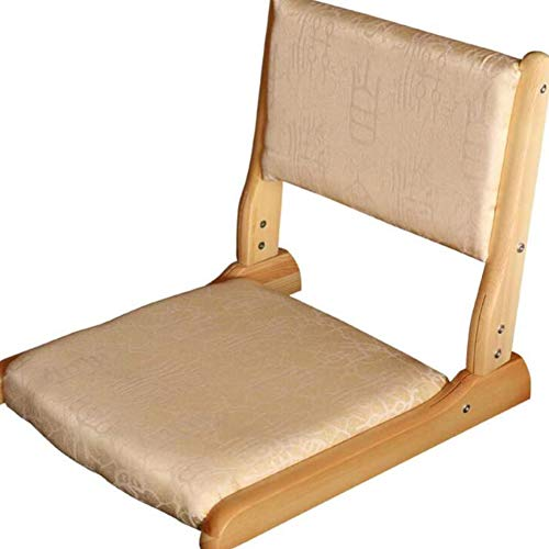 LCZ Folding padded base chair Japanese tatami floor chair with folding backrest Yoga...
