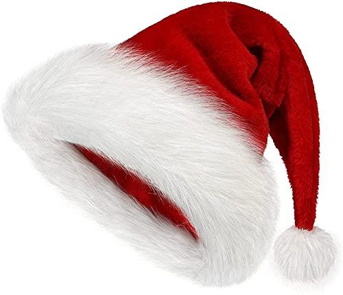 Sombrero de Navidad Sombrero de Navidad Vacaciones para adultos Sombrero de Pap Noel unisex para artculos de fiesta (Color : Red1, Size : 19.3 * 12.8cm)