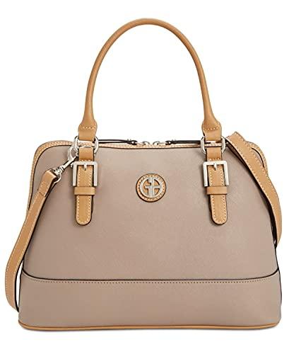 Giani Bernini Womens Saffiano Dome Satchel Handbag