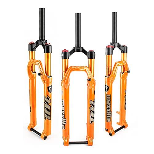 aiNPCde Suspensión Bicicleta MTB 26'27.5' 29'Horquilla 28.6mm Tubo Recto Bloqueo Manual/Remoto Eje pasante 15 x 100 mm - Naranja (Color : Straight Manual, Size : 29inch)