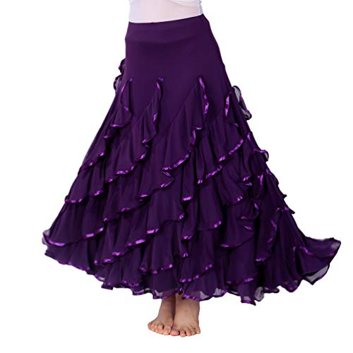 Tookang Flamenco Falda Grande del Columpio Vestido de Baile Moderno Tutu con...