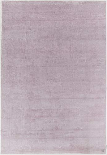 Hochflorteppich | Shaggy | Microfaserteppich | besonders weich | 65 x 135 cm; Farbe: Hellrose | Tom Tailor - Powder