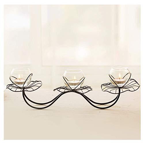 NHLBD Home decoratie/Feng Shui tafel Home Decoraties Iron Lotus Kaarsen Kaarslicht Diner Props Bruiloft Tafel Kandelaar Decoratie Lotus Lamp Vorm C