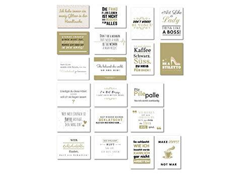 20er Postkarten Set | Karte Abschied Kollegin | Geschenk für beste Freundin, Kollegin | Wildpony.shop Kollektion