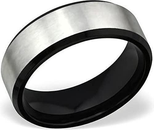 Amanto Axel 60 - Anillo de acero 316L, 8 mm, tamaño 60-19 mm
