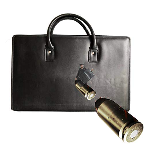 TBDLG Leather Briefcase for Men, Leather Wear and Bull-etproof Carrying Document Bag, Install Notebooks, Business Documents, Police Gifts, 0.4㎡