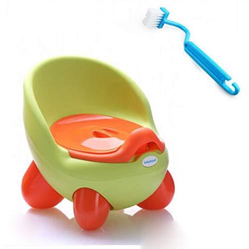Toixeyy Pot bébé WC Voiture for Enfants Toilettes Entraîneur Filles Chaise de siège Confortable Pot Animal Portable Gratuitement Potty Brosse (Color : 4)