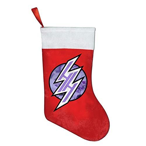 Hentai Haven Lila Pastell Blumen Weihnachtsstrümpfe Weihnachtsbaum Schneemann Deko Goodie Bags Kamin Christmas Stocking Geschenktüte Weihnachten Socken Rote Socken,26X42Cm