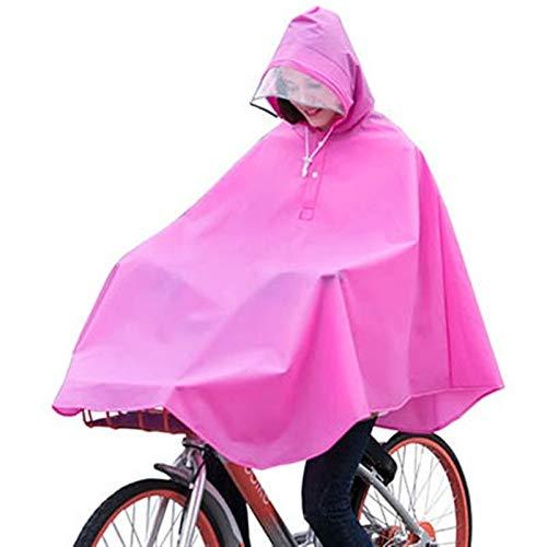 Abrigo Impermeable Al Aire Libre Impermeable Impermeable Impermeable Impermeable Poncho Fashion Fashion Bicycle Abrigos De Lluvia con Bolso Outdoors (Color : Rosy Red, Size : One Size)