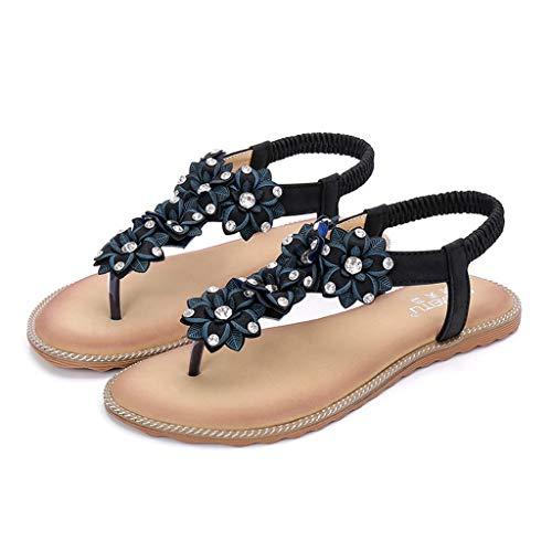 FRAUIT Sandali Romani Donna Bassi Schiava Scarpe Ragazza Eleganti Basse Con Strass Sandalo Estivi Etnici Infradito Eleganti Ciabatte Estive Pantofole