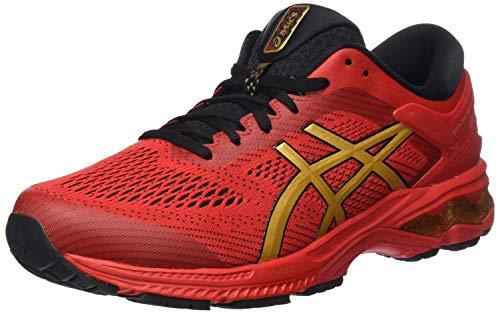 Asics Gel-kayano 26, Men's Running Shoes, Red (Classic Red/Pure Gold), 13 UK (49 EU)